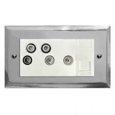 Mode Sky+ Socket Polished Chrome & White Trim