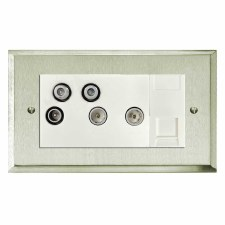 Mode Sky+ Socket Satin Nickel