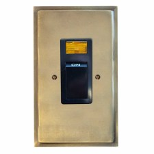 Mode Vertical Cooker Switch Antique Satin Brass