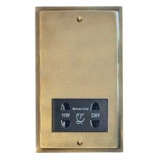 Mode Shaver Socket Antique Satin Brass