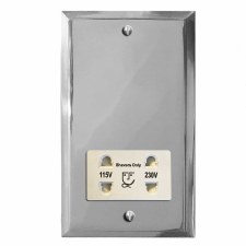 Mode Shaver Socket Polished Chrome & White Trim