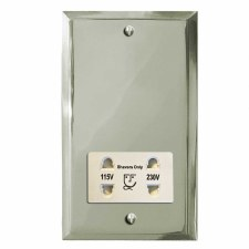 Mode Shaver Socket Polished Nickel