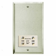 Mode Shaver Socket Satin Nickel