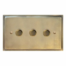 Mode Dimmer Switch 3 Gang Antique Satin Brass