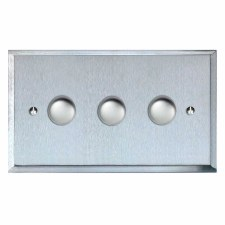 Mode Dimmer Switch 3 Gang Satin Chrome