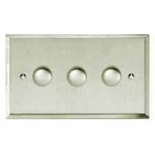 Mode Dimmer Switch 3 Gang Satin Nickel