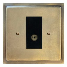 Mode TV Socket Outlet Antique Satin Brass