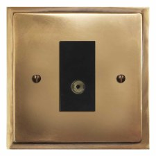 Mode TV Socket Outlet Hand Aged Brass