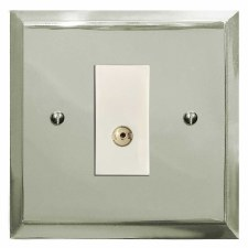 Mode TV Socket Outlet Polished Nickel