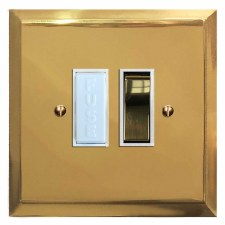 Mode Switched Fused Spur Polished Brass Lacquered & White Trim