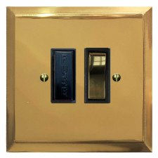 Mode Switched Fused Spur Polished Brass Lacquered & Black Trim