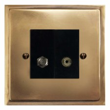 Mode Satellite & TV Socket Outlet Hand Aged Brass