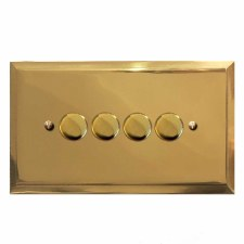 Mode Dimmer Switch 4 Gang Polished Brass Unlacquered