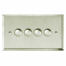 Mode Dimmer Switch 4 Gang Satin Nickel
