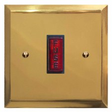 Mode Fused Spur Connection Unit Illuminated Indicator Polished Brass Lacquered & Black Trim