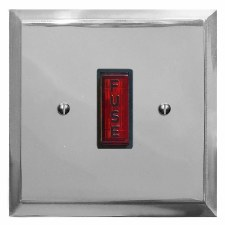 Mode Fused Spur Connection Unit Illuminated Indicator Polished Chrome & Black Trim