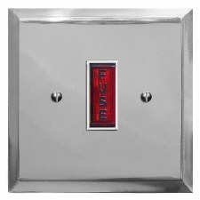 Mode Fused Spur Connection Unit Illuminated Indicator Polished Chrome & White Trim
