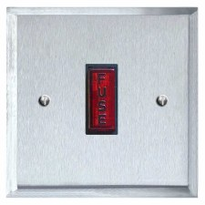 Mode Fused Spur Connection Unit Illuminated Indicator Satin Chrome & Black Trim