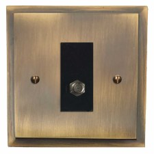 Mode Satellite Socket Antique Brass Lacquered