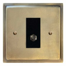 Mode Satellite Socket Antique Satin Brass