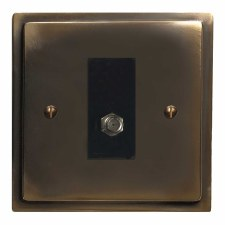 Mode Satellite Socket Dark Antique Relief