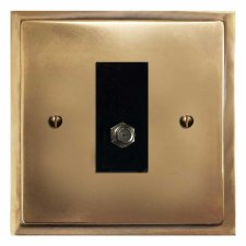 Mode Satellite Socket Hand Aged Brass