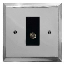 Mode Satellite Socket Polished Chrome & Black Trim