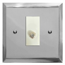 Mode Satellite Socket Polished Chrome & White Trim