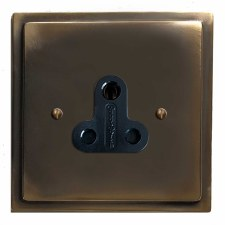Mode Lighting Socket Round Pin 5A Dark Antique Relief