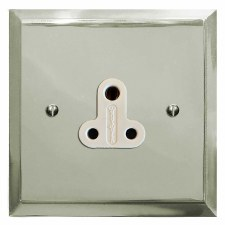 Mode Lighting Socket Round Pin 5A Polished Nickel