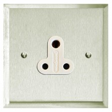 Mode Lighting Socket Round Pin 5A Satin Nickel
