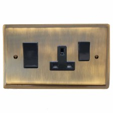 Mode Socket & Cooker Switch Antique Brass Lacquered