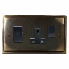 Mode Socket & Cooker Switch Dark Antique Relief