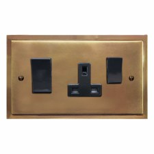 Mode Socket & Cooker Switch Hand Aged Brass