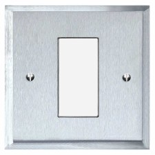 Mode Plate for Modular Electrical Components 50x25mm Satin Chrome