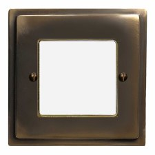 Mode Plate for Modular Electrical Components 50x50mm Dark Antique Relief