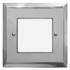 Mode Plate for Modular Electrical Components 50x50mm Polished Chrome