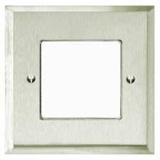 Mode Plate for Modular Electrical Components 50x50mm Satin Nickel