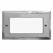 Mode Plate for Modular Electrical Components 50x100mm Polished Chrome