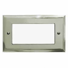 Mode Plate for Modular Electrical Components 50x100mm Polished Nickel