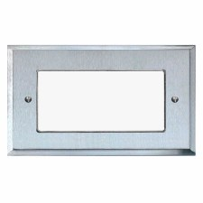Mode Plate for Modular Electrical Components 50x100mm Satin Chrome