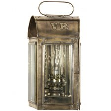 Trawler Flush Outdoor Wall Lamp Light Antique Brass