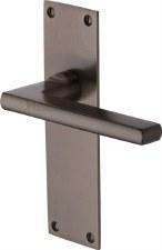 Heritage Trident Latch Door Handles TRI1310 Matt Bronze