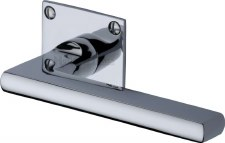 Heritage Trident LP Sq Rose Door Handles BAU2910 Polished Chrome