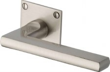 Heritage Trident LP Sq Rose Door Handles BAU2910 Satin Nickel