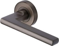 Heritage Trident Round Rose Door Handles TRI1352 Matt Bronze Lacq
