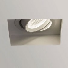 Trimless Square Ceiling Spot Light Adjustable Matt White