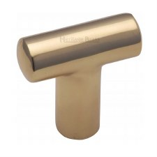 Heritage T Shaped Cabinet Knob C2234 Polished Brass