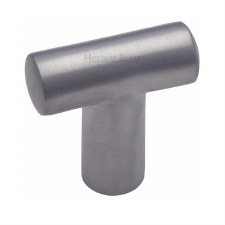 Heritage T Shaped Cabinet Knob C2234 Satin Chrome