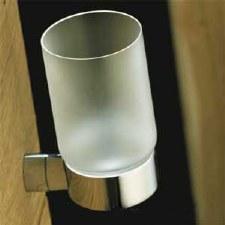 Samuel Heath N5035 Frosted Glass Tumbler Holder Polished Chrome